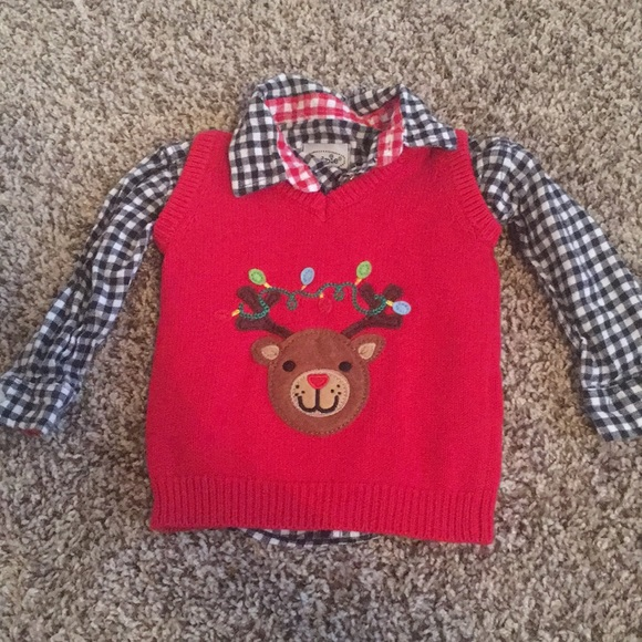 baby boy rudolph christmas sweater vest wflannel